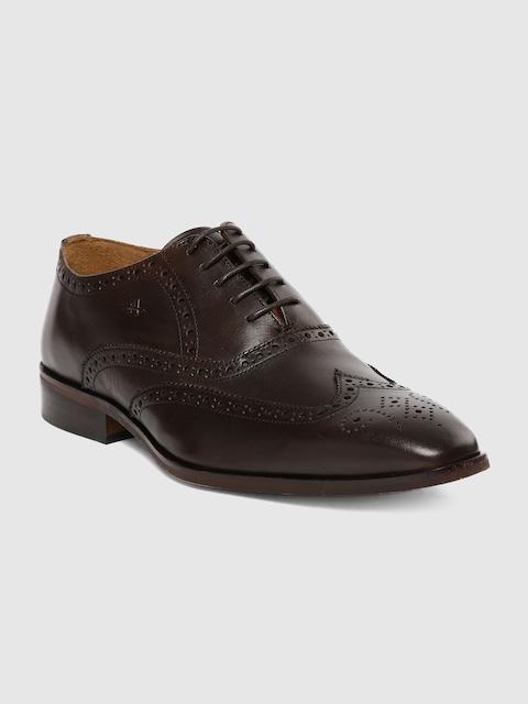 Arrow Men Brown Leather Formal Brogues