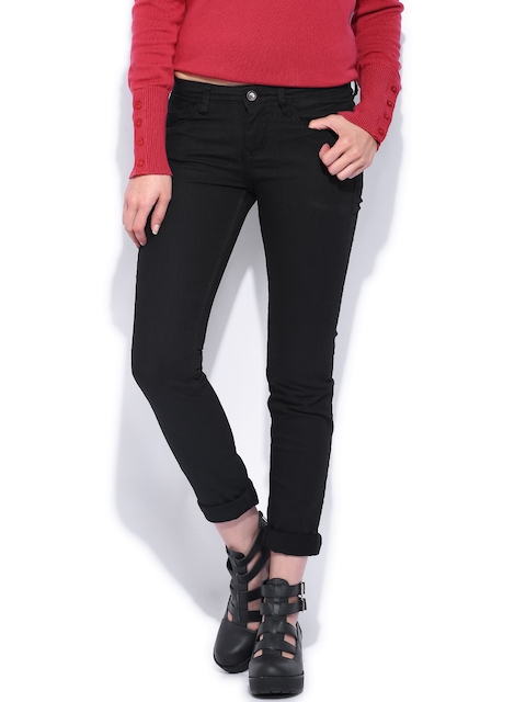 Flying Machine Black Super Skinny Fit Stretchable Jeans
