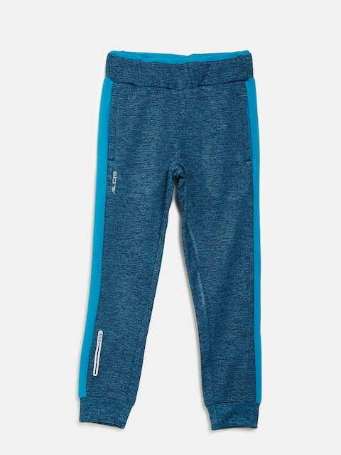 Alcis Girls Blue Solid Joggers with Grindle Effect