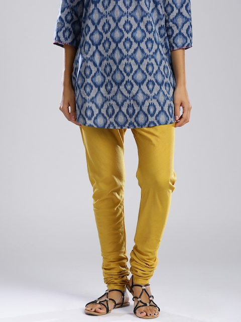 Fabindia Mustard Yellow Churidar