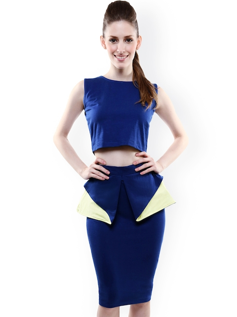 Miss Chase Blue Two-Piece Dress