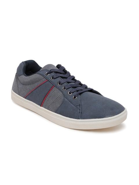 Bata Men Navy & Grey Casual Shoes