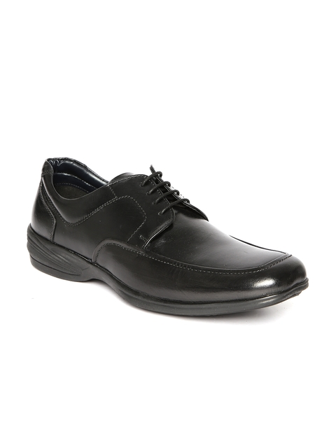 Alberto Torresi Men Black Leather Formal Shoes