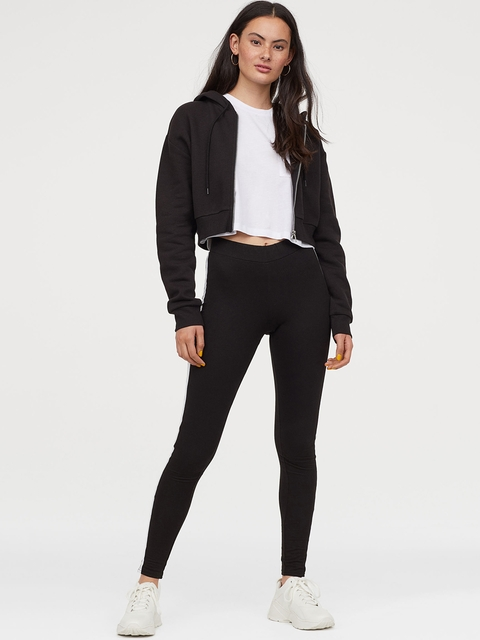H&M Women Black Solid Leggings