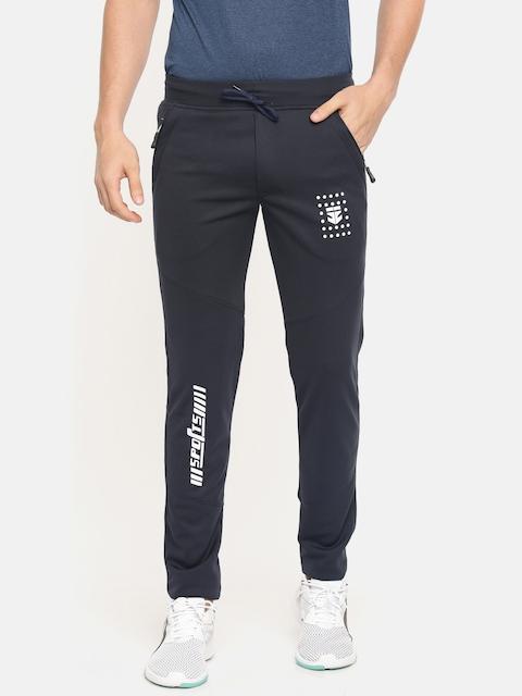 Sports52 wear Men Navy Blue Feel Dry Solid Slim Fit Track Pants