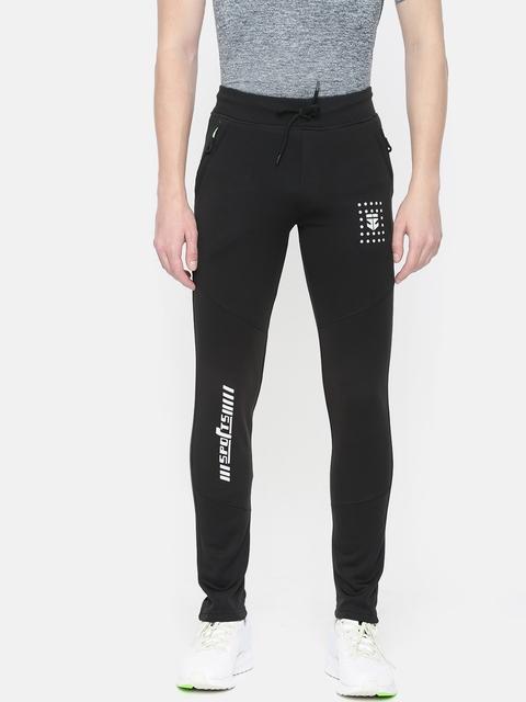 Sports52 wear Black Solid Slim Fit Track Pants