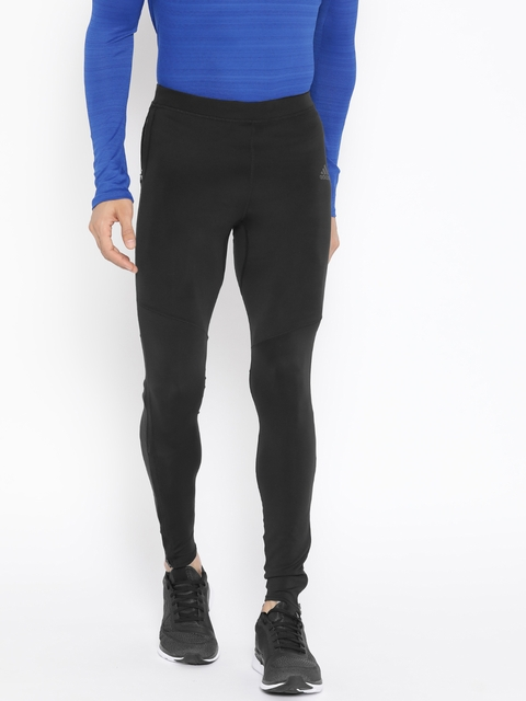 ADIDAS Men Black Solid Own The Run Tights