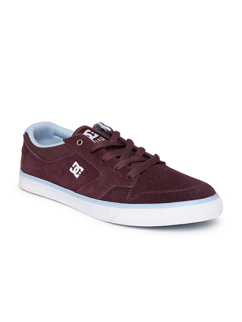 DC Women Burgundy Suede Sneakers