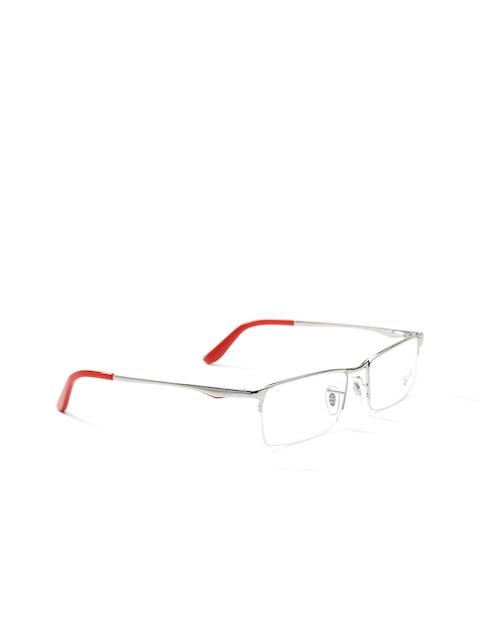 Ray-Ban Men Steel-Toned Half-Rim Rectangular Frames 0RX6304I250154-2501