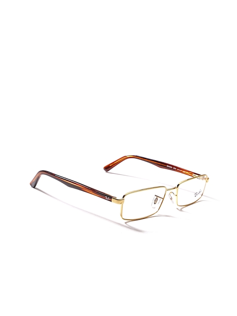 Ray-Ban Men Gold-Toned Rectangular Frames 0RX6268I250051-2500