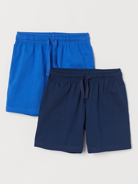 H&M Men Solid 2-Pack Jersey Shorts