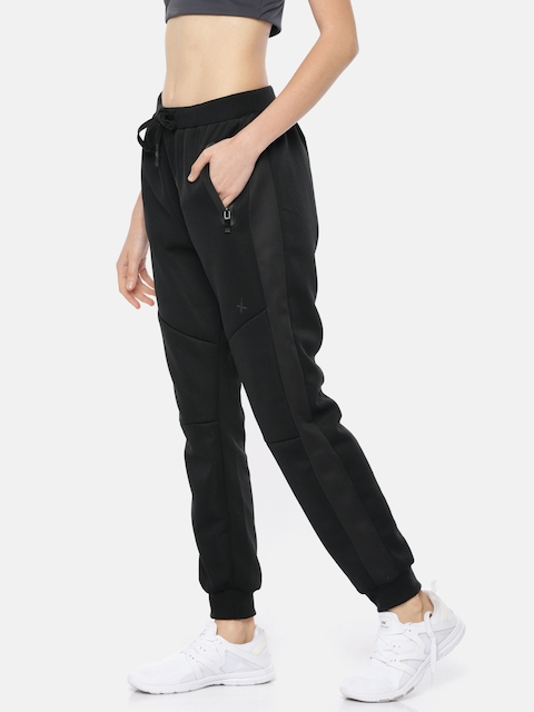 HRX by Hrithik Roshan Women Black Solid Regular Fit Rapid Dry Active Running Joggers