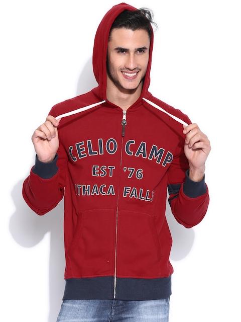 Celio Red Hooded Sweatshirt