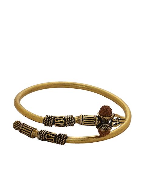 Dare by Voylla Men Gold-Toned Handcrafted Kada Bracelet