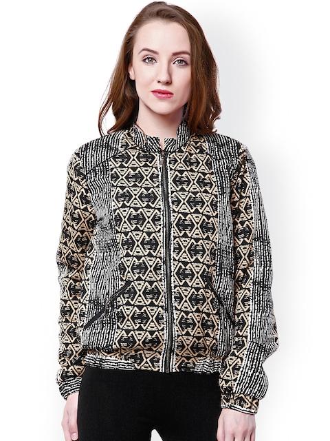 Oxolloxo Black & Brown Printed Jacket