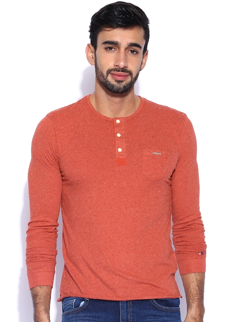 Being Human Clothing Red Henley T-shirt