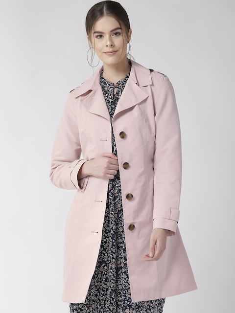 Marks & Spencer Women Pink Solid Stormwear Longline Trench Coat
