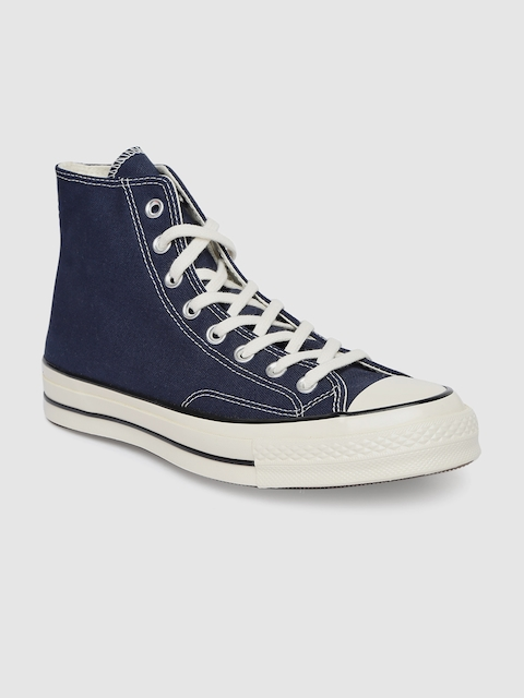 Converse Unisex Navy Blue Solid Mid-Top Sneakers