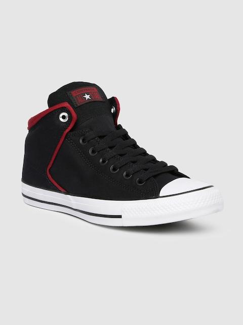 Converse Unisex Black Solid Mid-Top Sneakers