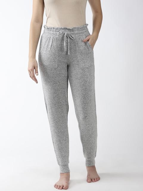 Marks & Spencer Women Grey Melange Solid Lounge Pants