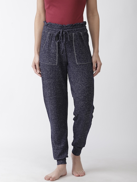 Marks & Spencer Women Navy Solid Lounge Pants