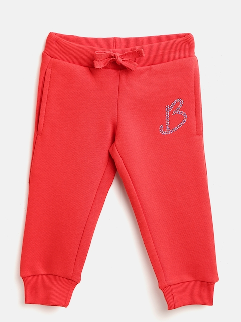 United Colors of Benetton Girls Red Solid Joggers