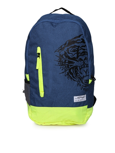 Ed Hardy Unisex Navy Backpack  available at myntra for Rs.1999