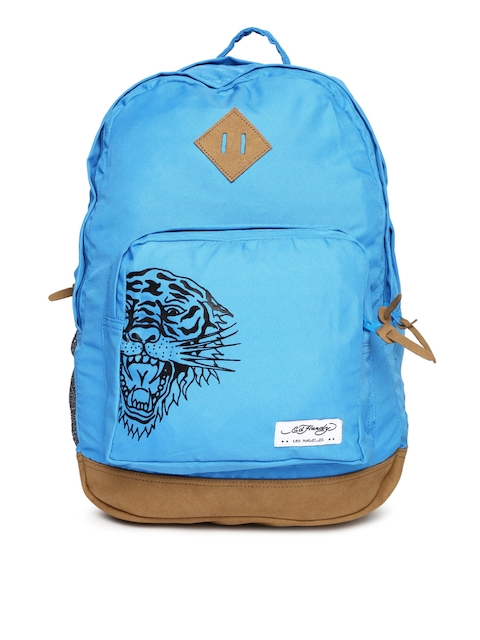 Ed Hardy Unisex Blue Backpack  available at myntra for Rs.2099