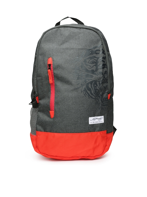 Ed Hardy Unisex Grey Backpack  available at myntra for Rs.2099