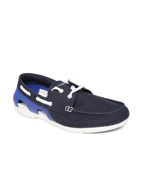 Crocs Men Blue Canvas Boat Shoes