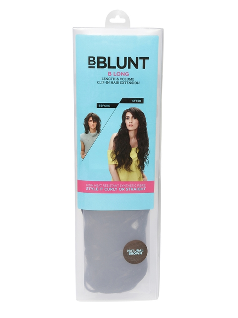 BBLUNT Natural Brown Length & Volume Clip-in Hair Extension