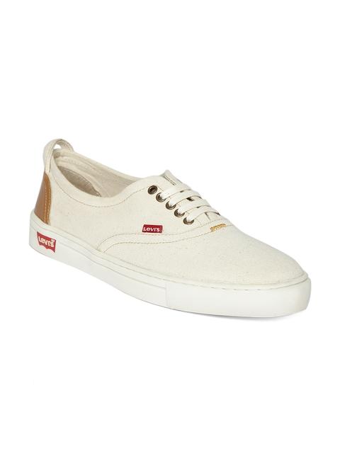 Levis Men Off-White Denim Casual Shoes