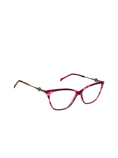 David Blake Women Pink Abstract Full Rim Cateye Frames EWDB1683