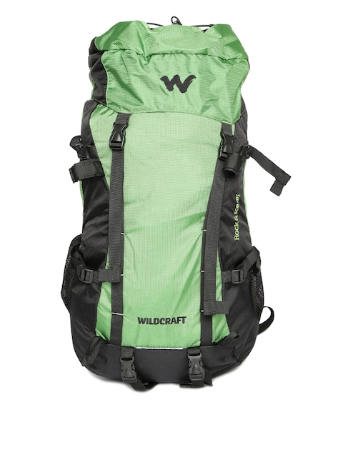 Wildcraft Unisex Green Rock & Ice Plus Rucksack