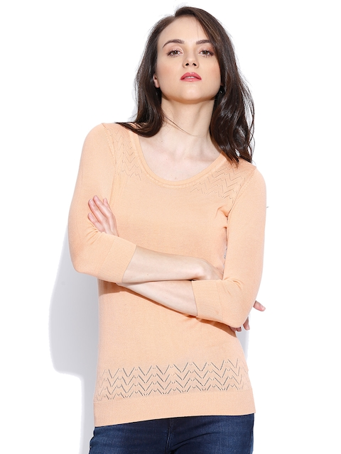 Wills Lifestyle Peach-Coloured Top