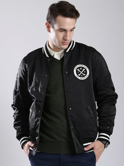 Tommy Hilfiger Black Bomber Jacket