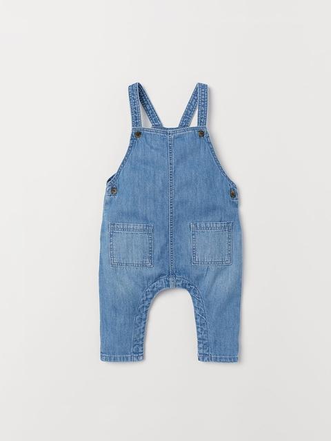 H&M Kids Blue Washed Denim Dungarees