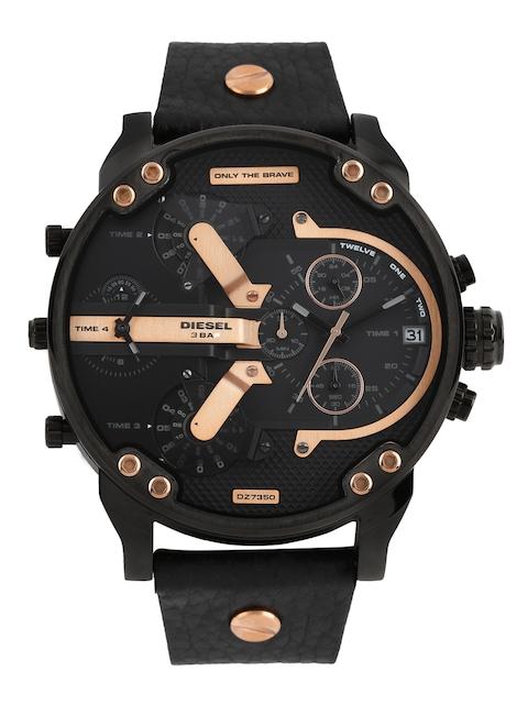 DIESEL Men Black Dial Chronograph Watch DZ7350