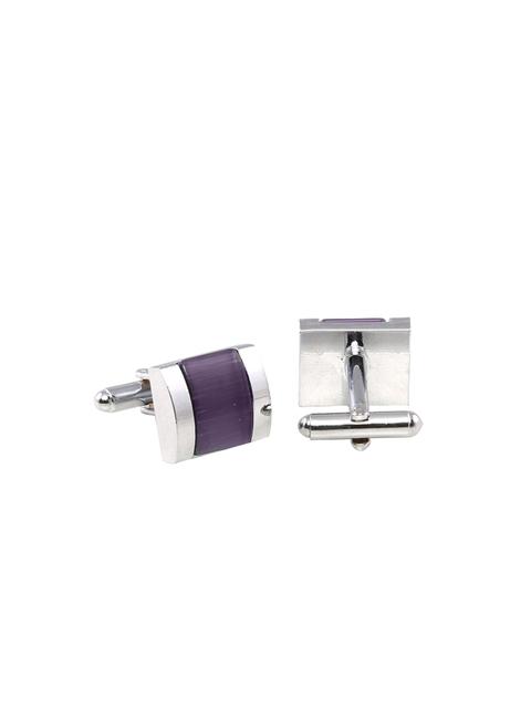 Tossido Purple & Silver-Toned Cufflinks