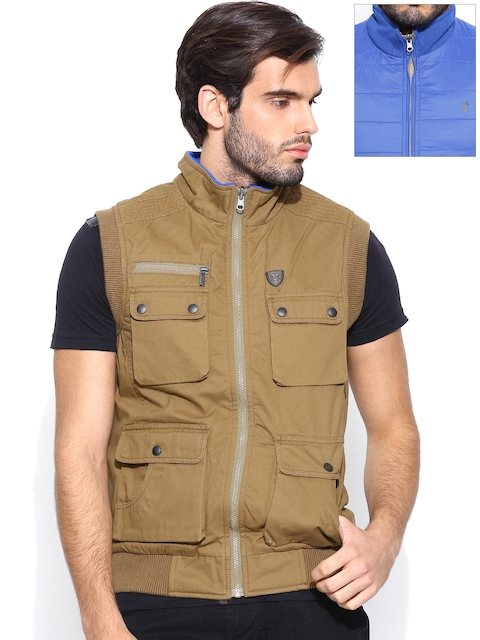 IZOD Brown & Blue Sleeveless Reversible Jacket