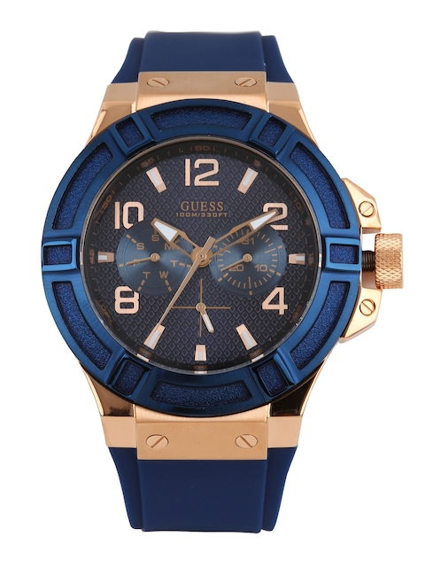 Guess W0247G3 Navy Blue Dial Analog Men's Watch (W0247G3)