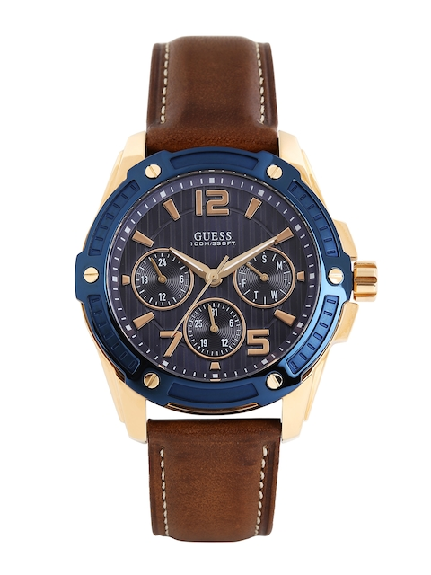 GUESS Men Navy Textured Dial Watch W0600G3