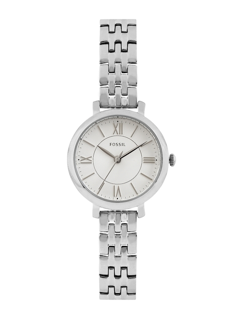 Fossil Women Silver-Toned Dial Watch ES3797I