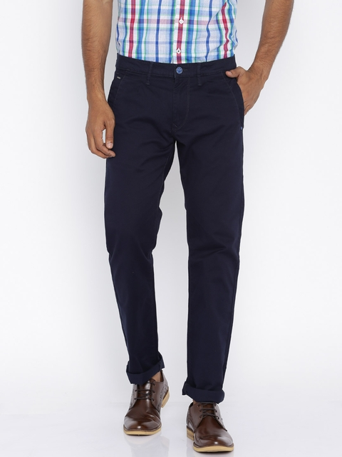 Lee Navy Powell Slim Fit Casual Trousers