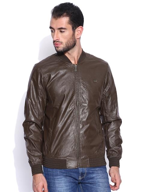 Arrow Sport Brown Biker Jacket