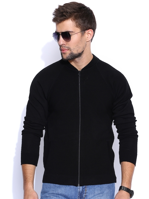 Peter England Casuals Black Cardigan