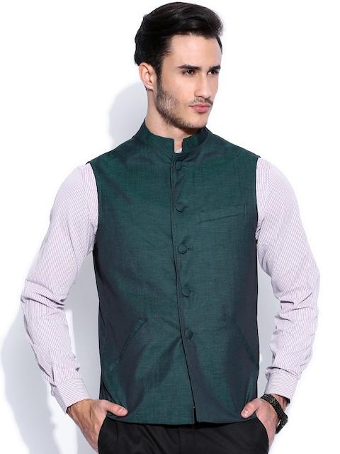 Peter England Teal Green Nehru Jacket