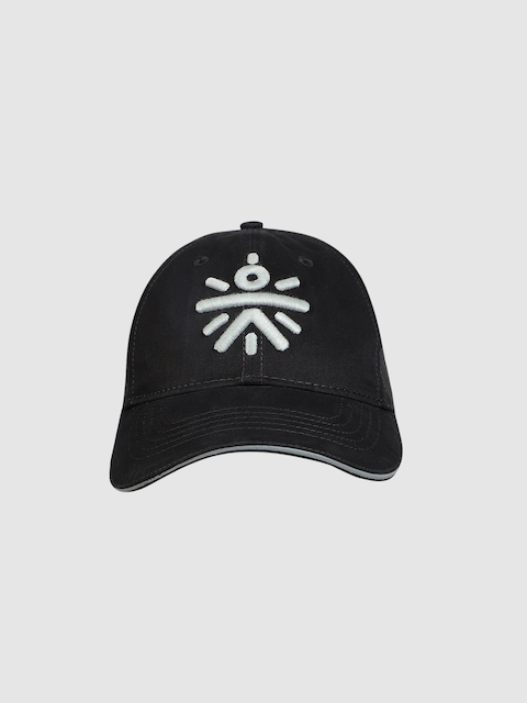 Cultsport Unisex Black Embroidered Baseball Cap