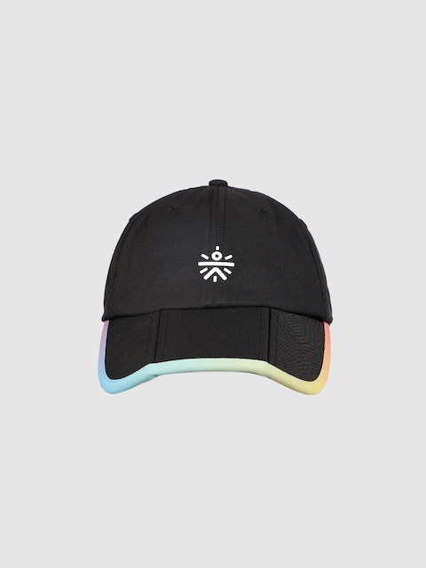 Cultsport Unisex Black Solid Baseball Cap