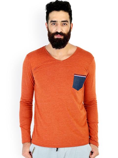 MR BUTTON Orange T-shirt
